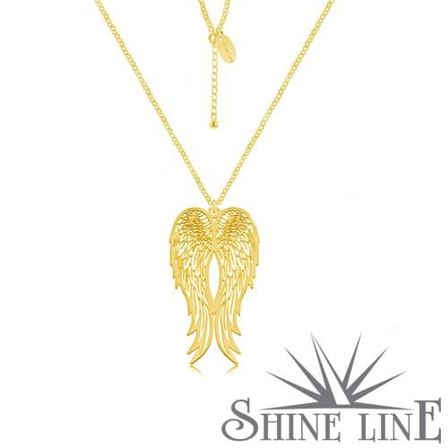 daa6abe4f0ac38 Złoty naszyjnik skrzydła anioła Shine Line Shine Line